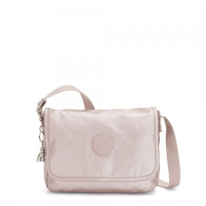 Kipling NITANY Medium Crossbody Bag Metallic Rose