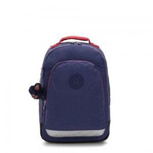 Kipling CLASS ROOM Large backpack with laptop protection Polished Blue C