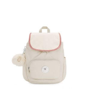 Black Friday 2020 - Kipling HANA S Small backpack with pompom monkey keyhanger Dazz White C