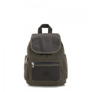 Black Friday 2020 - Kipling WAKITA Small Backpack with Front Pocket Cold Black Olive