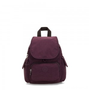 Kipling CITY PACK MINI City Pack Mini Backpack Dark Plum