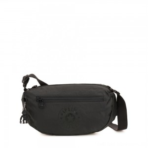 Black Friday 2020 - Kipling SENRA Small Crossbody Bag with adjustable shoulder strap Raw Black