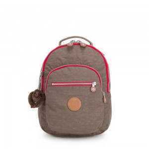 Kipling CLAS SEOUL S Backpack with Tablet Compartment True Beige C