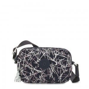 Black Friday 2020 - Kipling SOUTA Small Crossbody with Adjustable Shoulder Strap Navy Stick Print Gifting