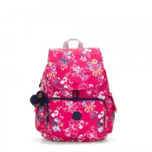 Kipling D CITYPACK Medium Backpack Doodle Pink