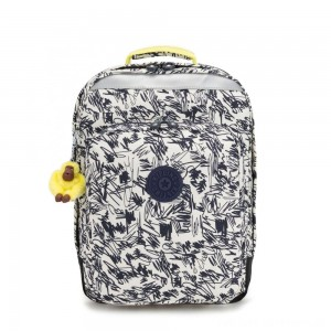 Kipling COLLEGE UP Large Backpack With Laptop Protection Scribble Fun Bl