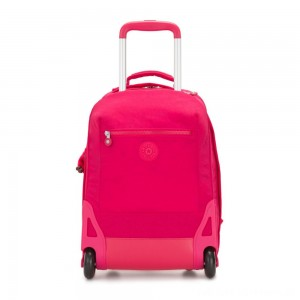 Kipling SOOBIN LIGHT Large wheeled backpack with laptop protection True Pink