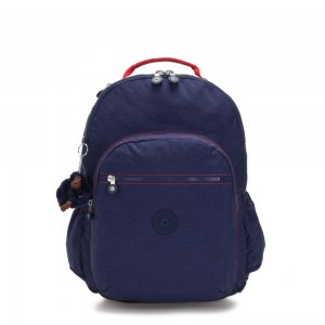 Black Friday 2020 - Kipling SEOUL GO XL Extra large backpack with laptop protection Polished Blue C