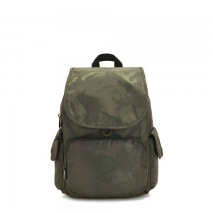 Kipling CITY PACK Medium Backpack Satin Camo