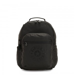 Black Friday 2020 - Kipling SEOUL Water Repellent Backpack with Laptop Compartment Raw Black