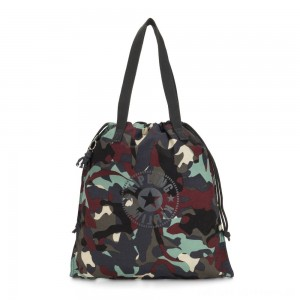 Black Friday 2020 - Kipling NEW HIPHURRAY Small Foldable Tote with drawstring Camo Large