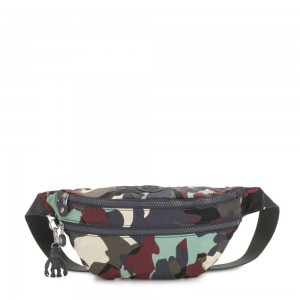 Black Friday 2020 - Kipling SARA Medium Bumbag Convertible to Crossbody Bag Camo Large