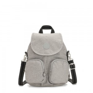 Kipling FIREFLY UP Small Backpack Covertible To Shoulder Bag Chalk Grey
