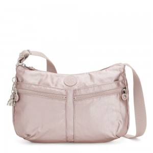 Kipling IZELLAH Medium Across Body Shoulder Bag Metallic Rose