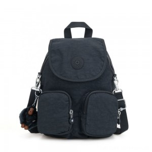 Kipling FIREFLY UP Small Backpack Covertible To Shoulder Bag True Navy