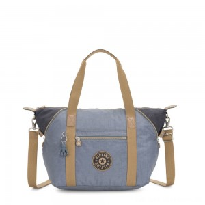 Kipling ART Handbag Stone Blue Block