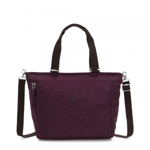 Kipling NEW SHOPPER L Large Shoulder Bag With Removable Shoulder Strap Dark Plum