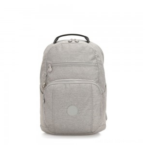 Kipling TROY Large Backpack with padded laptop compartment Chalk Grey
