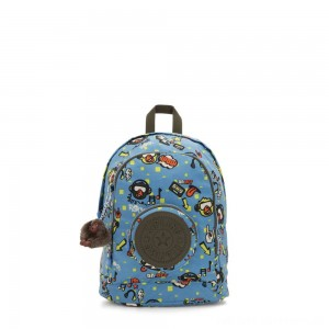 Kipling CARLOW Small kids backpack with round front pocket Monkey Rock