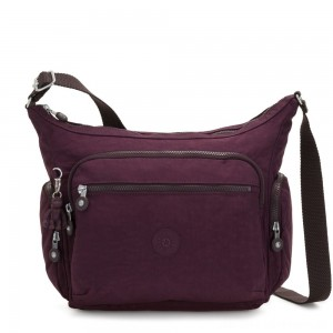 Kipling GABBIE Medium Shoulder Bag Dark Plum