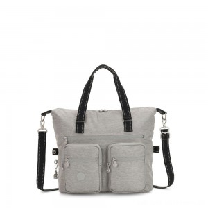 Black Friday 2020 - Kipling NEW ERASTO Large Tote with Front Pockets Chalk Grey