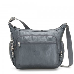 Black Friday 2020 - Kipling GABBIE Medium Shoulder Bag Steel Grey Metallic