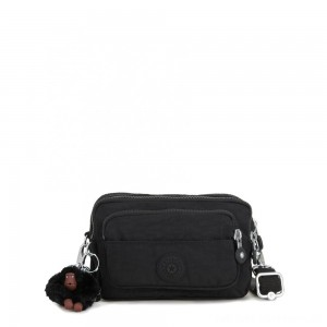 Kipling MULTIPLE Waist Bag Convertible to Shoulder Bag True Black