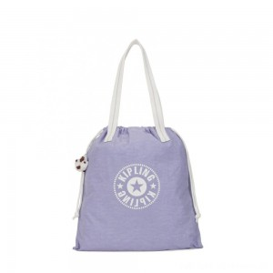Kipling NEW HIPHURRAY Small Foldable Tote with drawstring Active Lilac Bl