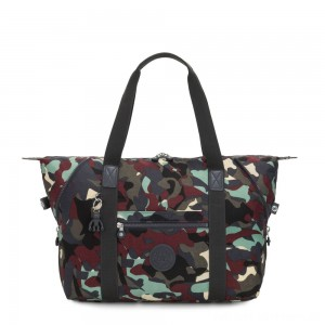 Kipling ART M Travel Tote With Trolley Sleeve Camo Large