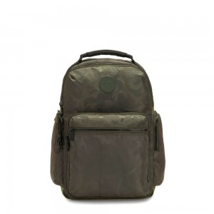 Black Friday 2020 - Kipling OSHO Large backpack with organsiational pockets Satin Camo