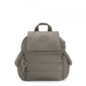 Kipling MANITO Small Puff Effect Backpack Mountain Grey