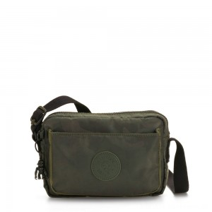 Black Friday 2020 - Kipling ABANU Mini Crossbody Bag with Adjustable Shoulder Strap Satin Camo