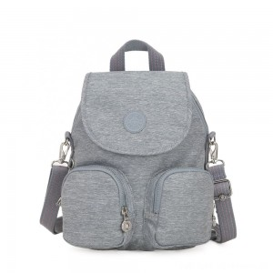 Kipling FIREFLY UP Small Backpack Covertible To Shoulder Bag Cool Denim
