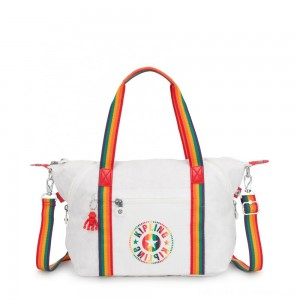 Black Friday 2020 - Kipling ART NC Lightweight Tote Bag Rainbow White