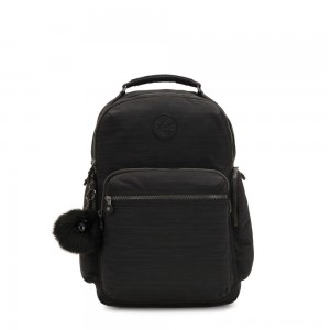 Black Friday 2020 - Kipling OSHO Large backpack with organsiational pockets True Dazzling Black