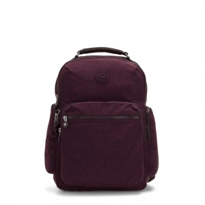 Kipling OSHO Large backpack with organsiational pockets Dark Plum