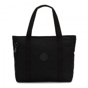 Black Friday 2020 - Kipling ASSENI Large Tote Bag with Internal Compartments Rich Black
