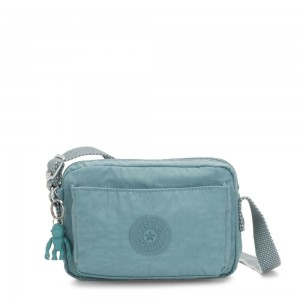 Black Friday 2020 - Kipling ABANU Mini Crossbody Bag with Adjustable Shoulder Strap Aqua Frost