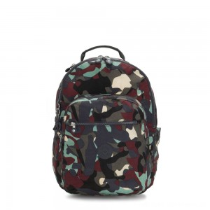 Kipling SEOUL Large backpack with Laptop Protection Camo Large