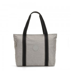 Black Friday 2020 - Kipling ASSENI Large Tote Bag with Internal Compartments Chalk Grey
