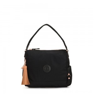 Kipling ISMAY Medium Tote Bag with Side Pockets Rose Black