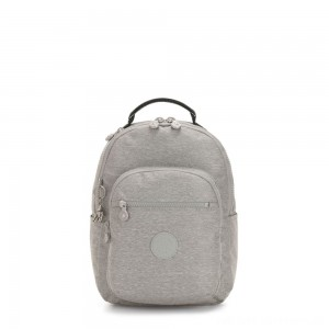 Black Friday 2020 - Kipling SEOUL S Small Backpack with Tablet Compartment Chalk Grey