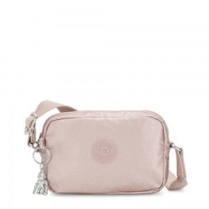 Kipling SOUTA Small Crossbody with Adjustable Shoulder Strap Metallic Rose Gifting