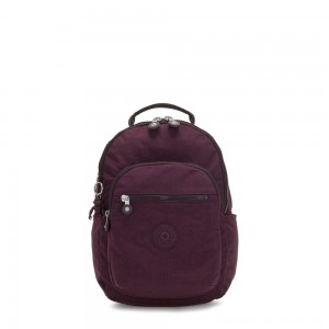 Kipling SEOUL S Small Backpack with Tablet Compartment Dark Plum