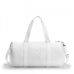 Black Friday 2020 - Kipling ONALO L Large Duffle Bag with Zipped Inside Pocket Lively White