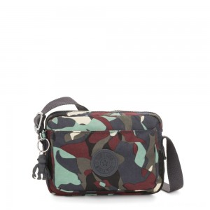 Black Friday 2020 - Kipling ABANU Mini Crossbody Bag with Adjustable Shoulder Strap Camo Large