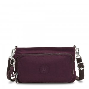 Kipling MYRTE Small 2 in 1 Crossbody and Pouch Dark Plum