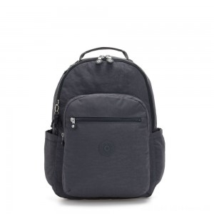 Kipling SEOUL Large backpack with Laptop Protection Night Grey