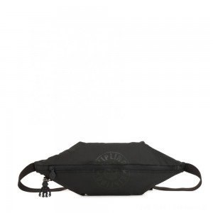 Kipling YOKU Medium Crossbody bag convertible to waistbag Raw Black