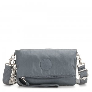 Black Friday 2020 - Kipling LYNNE Small crossbody Convertible to Bum Bag Steel Grey Metallic